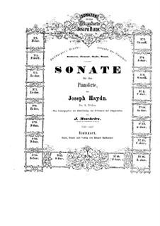 Sonaten für Klavier (Sammlung): Buch I by Joseph Haydn