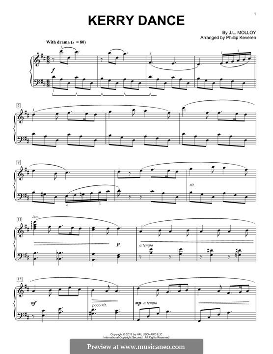 The Kerry Dance: Für Klavier, leicht by James L. Molloy