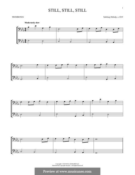 Still, Still, Still: For two trombones by folklore