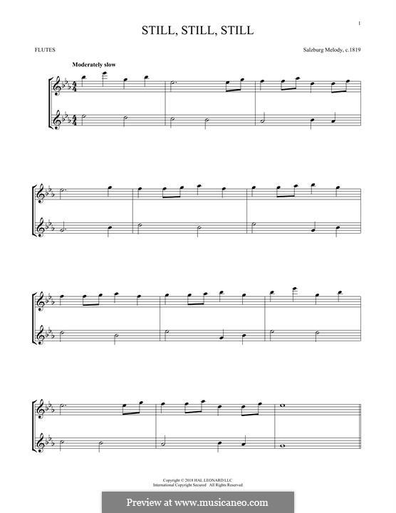 Still, Still, Still: Für zwei Flöten by folklore