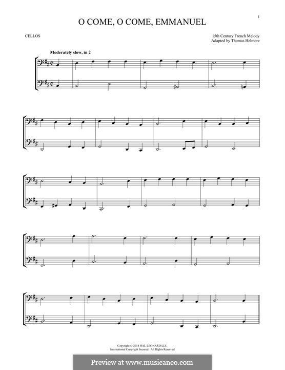 O Come, O Come, Emmanuel: Für zwei Violinen by folklore