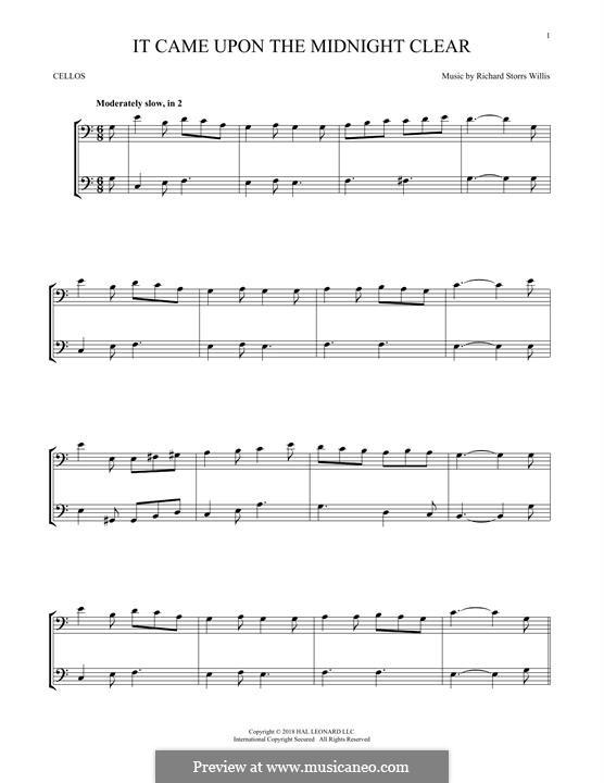 It Came upon the Midnight Clear: Für zwei Violinen by Richard Storrs Willis