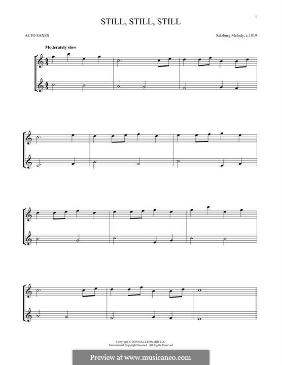Still, Still, Still: For two alto saxophones by folklore