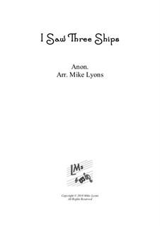 I Saw Three Ships: Für Blechblasquintett by folklore