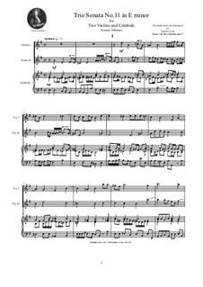 Zwölf Triosonaten für zwei Violinen und Basso Continuo, Op.1: Trio Sonata No.11 in E minor by Tomaso Albinoni