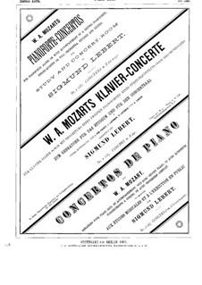 Konzert für Klavier und Orchester Nr.6 in B-Dur, K.238: Solostimme by Wolfgang Amadeus Mozart