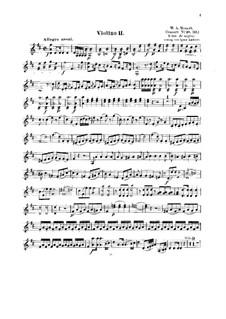 Konzert für Klavier und Orchester Nr.16 in D-Dur, K.451: Bearbeitung für Streichquartett – Violinstimme II by Wolfgang Amadeus Mozart