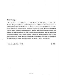 Kirchensonate für zwei Violinen, Orgel und Basso Continuo Nr.15 in C-Dur, K.328 (317c): Vollpartitur by Wolfgang Amadeus Mozart