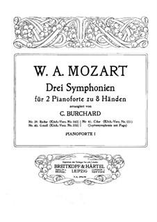 Sinfonie Nr.41 in C-Dur 'Jupiter', K.551: Für zwei Klaviere, achthändig by Wolfgang Amadeus Mozart