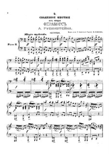 Feramors: Cortège de noce, for two pianos eight hands – piano II part by Anton Rubinstein