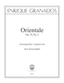Zwölf Spanische Tänze: Dance No.2, for three guitars by Enrique Granados