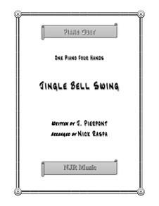 Jingle Bells, für Klavier: Version for four hands (early intermediate) by James Lord Pierpont
