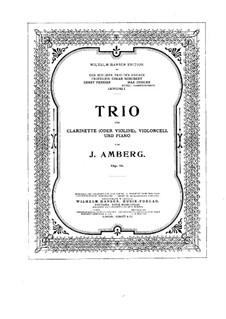 Trio für Klarinette (oder Violine), Cello und Klavier in Es-Dur, Op.11: Vollpartitur by Johan Amberg