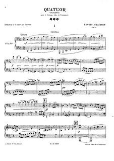 Streichquartett in c-Moll, Op.35: Version für Klavier, vierhändig by Ernest Chausson