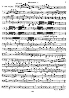 Eliza ou Le Voyage aux Glaciers du Mont St. Bernard: Overture, for String Quartet – Cello Part by Luigi Cherubini