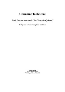 Trois Danses de 'La Nouvelle Cythère': For tenor (or soprano) saxophone and piano by Germaine Tailleferre