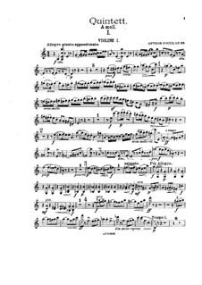 Klavierquintett in a-Moll, Op.38: Stimmen by Arthur  Foote