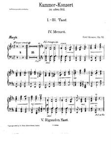 Kammerkonzert im alten Stil für Flöte und Streichorchester, Op.112: Harfenstimme by Emil Kronke