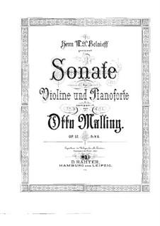Sonate für Violine und Klavier, Op.57: Solostimme by Otto Malling