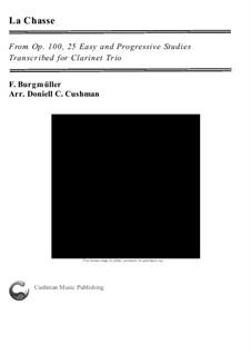 Nr.9 Die Jagd: For clarinet trio by Johann Friedrich Burgmüller