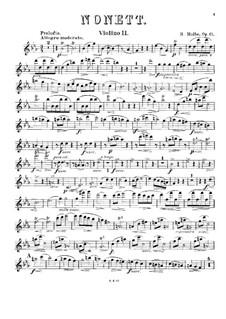 Nonett für Blasinstrumente und Streicher, Op.61: Violinstimme II by Heinrich Molbe