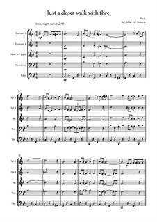 Just a Closer Walk with Thee: For wind quintet by folklore