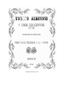 Dodici concerti a cinque, Op.9: Concertos Nos.2, 5, 8, 11 - scores and parts by Tomaso Albinoni