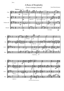 A Rune of hospitality - I saw a stranger yestreen: For wind quartet by David W Solomons