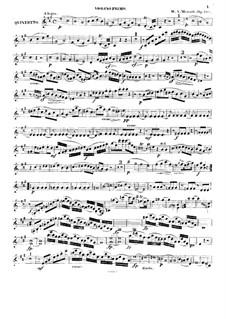 Quintett für Klarinette und Streicher in A-Dur, K.581: Violinstimme I by Wolfgang Amadeus Mozart