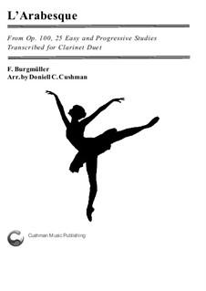 Nr.2 Arabeske: For clarinet duo by Johann Friedrich Burgmüller