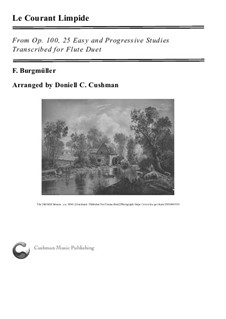 Nr.7 Rieselnder Bach: For flute duo by Johann Friedrich Burgmüller