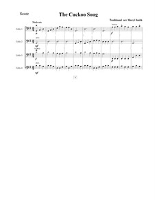 Cuckoo: For four very beginner cellists cellos by folklore