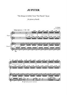 Jupiter: Für Klavier, vierhändig by Gustav Holst