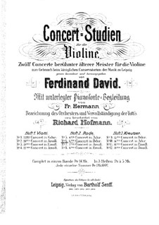 Violinkonzert Nr.6 in B-Dur, Op.8: Für Violine und Klavier by Pierre Rode