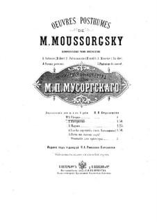 Scherzo in B-Dur: Version für Klavier, vierhändig by Modest Mussorgski