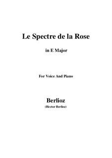 Les nuits d'été (Summer Nights),  H.81 Op.7: No.2 Le spectre de la rose (E Major) by Hector Berlioz