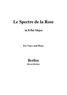 Les nuits d'été (Summer Nights),  H.81 Op.7: No.2 Le spectre de la rose (B flat Major) by Hector Berlioz