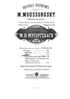Mlada: Zug der Fürsten und Priester. Bearbeitung für Klavier, vierhändig by Modest Mussorgski