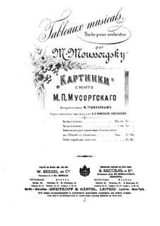 Vollständiger Zyklus: Für Klavier, vierhändig by Modest Mussorgski