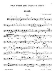 Zwei Stücke für Streichquartett: Violastimme by Samuel Alexandre Rousseau