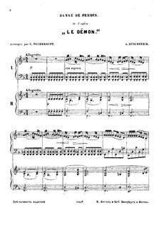 Der Dämon: Tänze, für zwei Klaviere, vierhändig by Anton Rubinstein