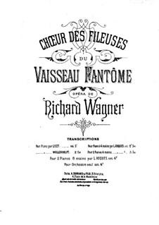 Spinnlied: Für zwei Klaviere, achthändig – Stimme by Richard Wagner