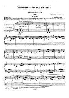 Fragmente: Vorspiel zum Akt I, für zwei Klaviere, achthändig – Klavierstimme I by Richard Wagner