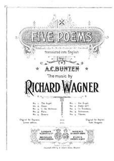 Wesendonck Lieder, WWV 91: Nr.3 Im Treibhaus (Deutsche und englische Texte) by Richard Wagner