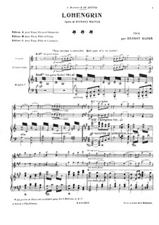 Fragmente: Für Klaviertrio by Richard Wagner