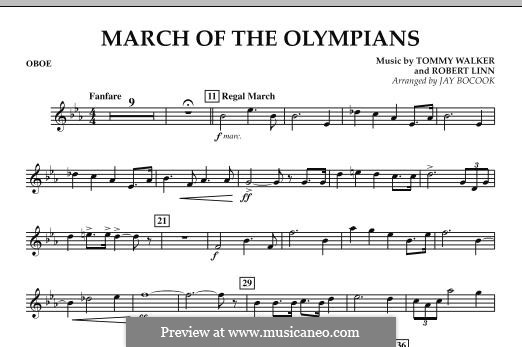 March of The Olympians: Oboenstimme by Tommy Walker, Robert Linn