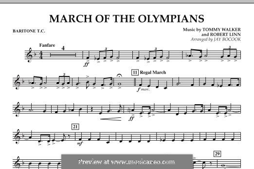 March of The Olympians: Baritone T.C. part by Tommy Walker, Robert Linn