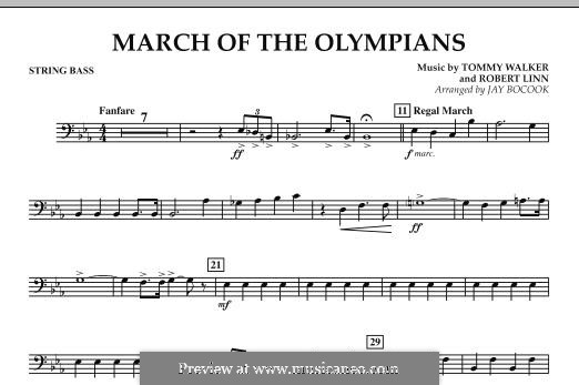 March of The Olympians: String Bass part by Tommy Walker, Robert Linn