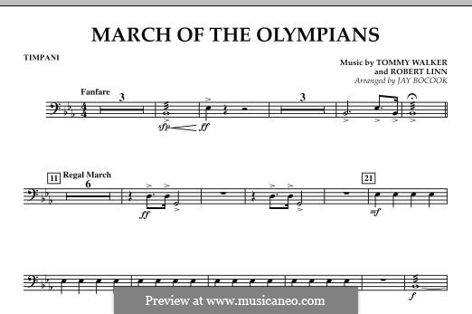 March of The Olympians: Paukenstimme by Tommy Walker, Robert Linn