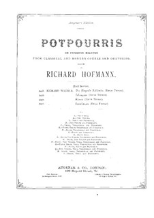 Potpourri über 'Tannhäuser' von Wagner für Flöte, Violine, Cello und Klavier: Violinstimme by Richard Hofmann